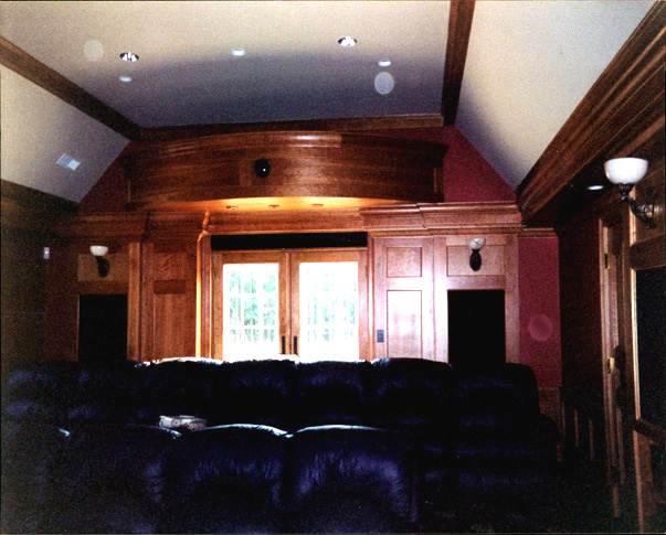 Treehouse Woodworking Custom Home Theater