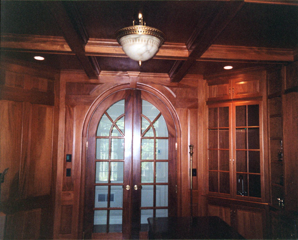 Treehouse Woodworking Custom Raised Panel Wall Arched Doors