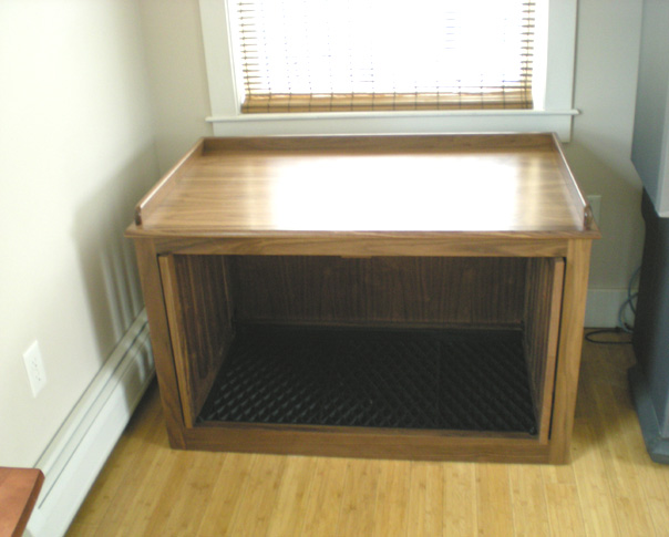 Double Dog Crate with Window Seat Top