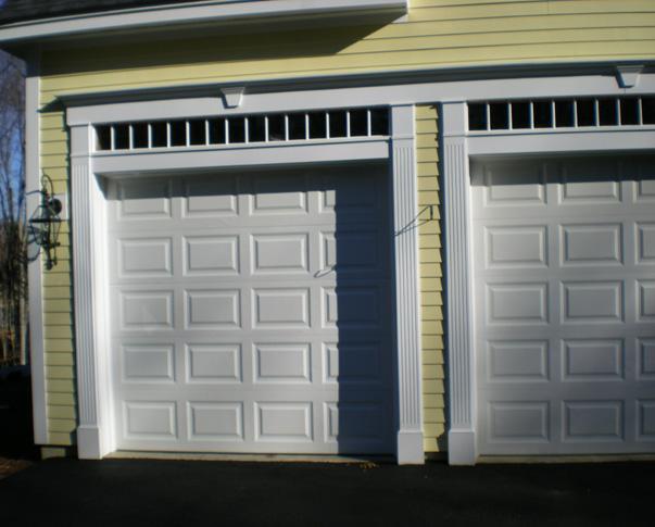 Strip garage door molding