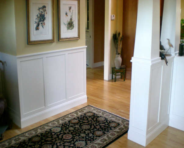 Treehouse Woodworking Eaised Panel Wainscoting Columns